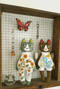 handmade stuffed animal  CATCAT  by mayuko