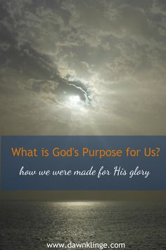 So if the will of the Father is to bring him glory, by being conformed into the image of his Son, Jesus Christ, how do we do that?