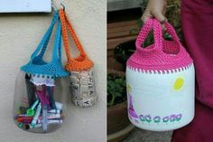 Crochet com garrafas pet