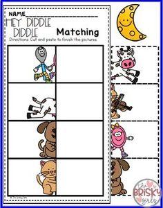 Nursery Rhymes Preschool Hey Diddle Diddle (Nursery Rhyme Sequencing)