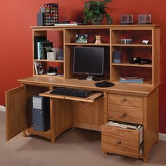 Modular Home Office Woodworking Plan by Woodcraft Magazine