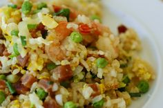 Fried Rice with Chinese Sausage, BBQ Pork, Shrimp and Eggs
