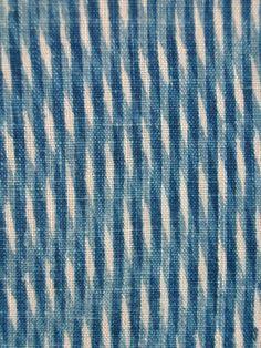 KUMANO-ZOME INDIGO KATAZOME ・ 熊野染 KUMANO-ZOME FAUX MOIRE RICE-PASTE STENCIL-RESISTED AND VAT-DYED IN BOTANICAL INDIGO LATE 19C