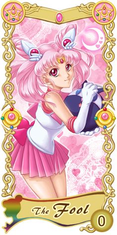Pretty Guardian Sailor Moon Original Tarot Cards: 0 - The Fool | by Ryukia @ Pixiv.net // #sailormoon