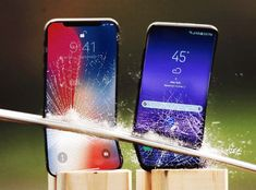 Apple iPhone X vs Galaxy Drop Tests Reveal Which is the Stronger Phone! Dji Spark, Katana, Galaxy S8, Iphone Wallpaper, Apple Iphone, Android, Drop, Weird Things, Giveaway