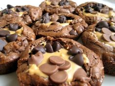 Peanut butter cup style brownie cookies