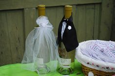bride and groom wine bottle decorations | Bride and Groom Wine Bottle Decorations | Flickr - Photo Sharing!