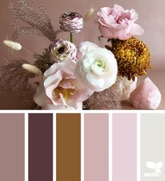 Inspiration for a millenial pink colour scheme with a pop of ginger to spice it up