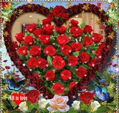 Discover & share this Animated GIF with everyone you know. GIPHY is how you search, share, discover, and create GIFs. Flowers Gif, Beautiful Rose Flowers, Beautiful Gif, Beautiful Flowers, Heart Images, Love Images, I Wallpaper, Flower Wallpaper, Gif Bonito