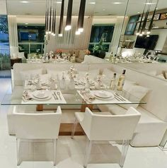 Apartment Interior Decorating Chic Couch 39 Ideas For 2019 Dinner Room, Apartment Interior, Dining Room Design, Interior Decorating, Sweet Home, House Design, Decoration, Home Decor, Casa Clean