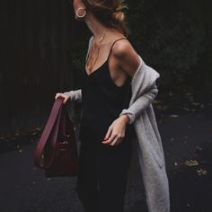 Dark date night outfit