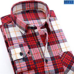 Men Flannel Plaid Shirt Cotton Spring Autumn Casual Long Sleeve Shirt Soft Comfort Slim Fit Styles Brand Man Clothes
