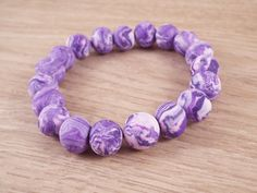 Donella Purple & Pastel Pink Polymer Clay by HandmadeByVscot