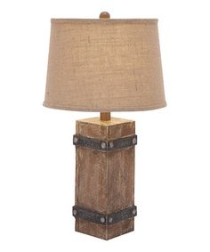Look what I found on #zulily! Beige Wood Block Table Lamp by UMA Enterprises #zulilyfinds