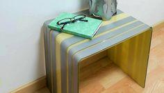 Mesa de metacrilato con pintura en spray Pintyplus Evolution con Brico y Deco. Supporting DIY with our spray paints.