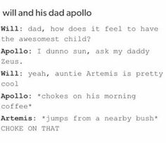 "Did anyone notice Apollo called Will ""sun"""