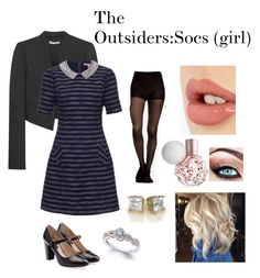 """""""The outsiders:Socs (girl)"""" by superwoman65 on Polyvore featuring Alice + Olivia, Marc Jacobs and Charlotte Tilbury"""