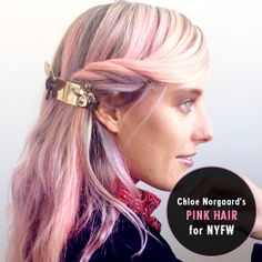 Chloe Norgaard's Pink Hair for NYFW