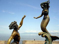 Tritn y Sirena (h.m1505) Tags: mxico puerto mar jalisco vallarta malecn