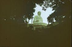 1989; Buddah Statue auf einem Berg bei Vung Tau Süd-Vietnam; 1989, Buddha statue on a mountain near Vung Tau South Vietnam;