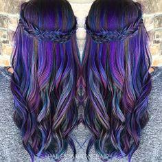 Purple color melt with adorable braid by @haileyrhea rainbow hair mermaid hair unicorn hair hotonbeauty.com