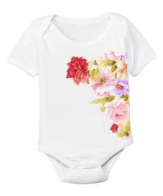 Another great find on #zulily! White Bouquet Bodysuit - Infant #zulilyfinds