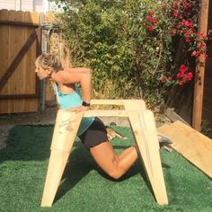 Cheap dip bar idea: get two saw horses from a hardwood store and go to town :muscle::muscle::muscle: No excuses! Get creative if you don't have regular workout equipment.  Find dip bar workouts: 12minuteathlete.com/app  #noexcuses #12minuteathlete #app #c