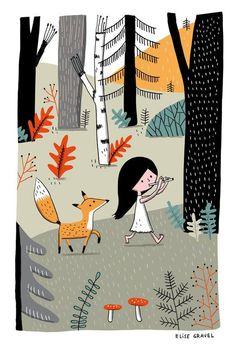 """""""Il cammino inizia con un passo al buio"""" Illustrazione di Elise Gravel."""