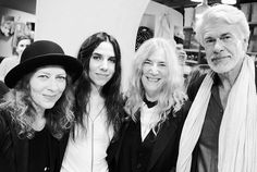 Ann Demeulemeester book signing with a performance by Patti Smith and PJ Harvey, London - purple NIGHT