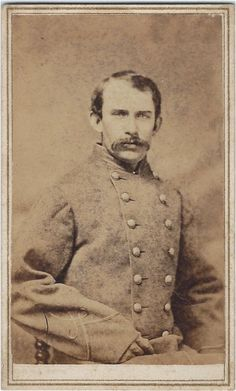 Carte de visite of Lieutenant Francis Chapline of the 20th Louisiana Infantry.  He hailed from Mississippi and the image was made by Gurney's of Natchez.