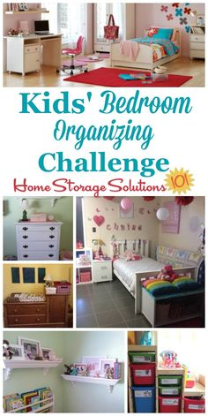 Step by step instructions for the kids' bedroom organizing challenge, to get your children's rooms organized and ready for use as a place for them to sleep, relax, play, study, and more {part of the 52 Week Organized Home Challenge on Home Storage Solutions 101} #BedroomOrganization #KidsBedroom #OrganizeBedroom