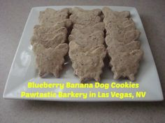 Healthy dog treats from the Pawtastic Barkery in Las Vegas, NV. Blueberry banana dog cookies!