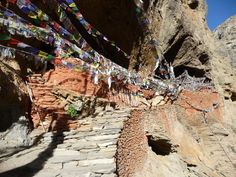 The oldest Chunsi monastery Between Chaile and Shyangbuche of Upper Mustang Trekking in Nepal.