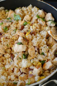 Chicken Fried Rice (have to scroll through the blog post to get to it, at bottom of page!)