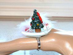 Kawaii Ring  Miniature Japanese Ceramic  by OishisoBitsAndBites, $14.00