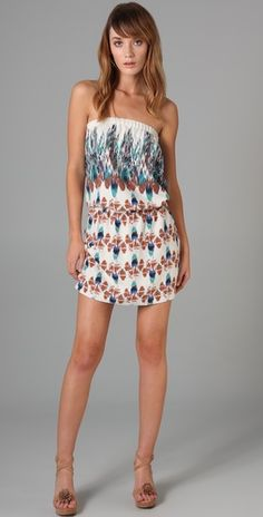 Tibi, Istanbul Strapless Dress, $298. The more and more I look at it, the more and more I like the pattern.