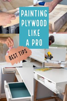 Learn how to paint plywood for a smooth professional look using a simple trick that makes all the difference! #AnikasDIYLife #furniturepainting #paintingtips Plywood Furniture, Painted Furniture, Learn To Paint, Painting Tips, Learning, How To Make, Studying, Teaching, Learn To Draw