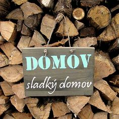 HaM / DOMOV sladký domov wooden sign - HOME sweet home