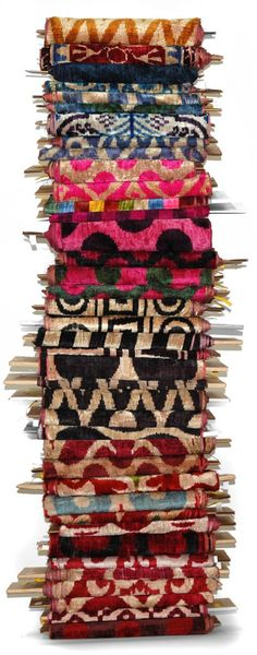 Must get back to Turkey and order more silk velvet ikat -- pillows to be made!