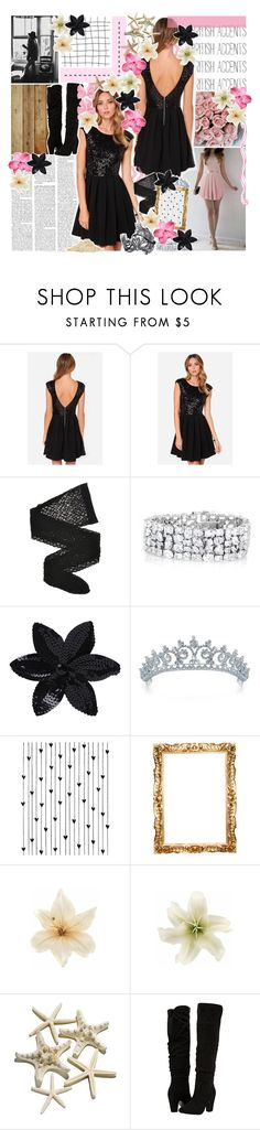 """//footsteps on my stairs♥"" by tropical-songwriter ❤ liked on Polyvore featuring GET LOST, Wolford, ASOS, Bling Jewelry, Camp, Clips, Dorothy Perkins, Pink, black and formal"