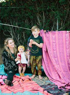 Cleobella family #babyharempants #rufflebabybloomers