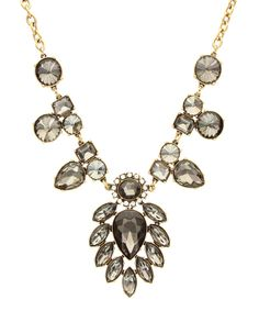 Take a look at this Gold & Smoke Stone Necklace on zulily today!