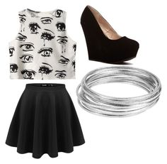 """""""eye's"""" by desleyanalovely ❤ liked on Polyvore featuring Chicnova Fashion and Worthington"""