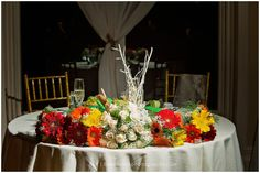 Beautiful Fall Flower Arrangement  for the Sweetheart Table| Fall Weddings| South Jersey Wedding Venue
