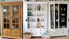 Eine alte Secondhand-Vitrine aufpeppen? Auf Roombeez seht Ihr, wie es geht » Möbel streichen ✓ Alte Möbel aufpeppen ✓ Make-Over ✓ Jetzt inspirieren lassen!