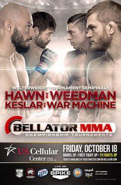 Bellator 104 Hawn vs. Weedman 2 Fightcard