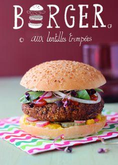 Hamburger vegan aux lentilles trempées