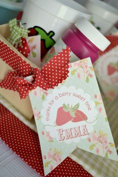 Birthday Party Ideas - Blog - (SWEET & SHABBY CHIC) STRAWBERRY PATCH BIRTHDAY PARTY IDEAS