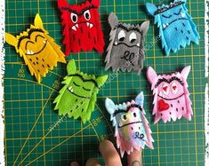 Craft Activities For Kids, Crafts For Kids, Recreational Activities, Busy Book, High Five, Finger Puppets, Home Schooling, Monster, Growth Mindset