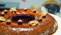 Receitas para a Felicidade!: Pudim de Chocolate com Avelã e Nozes